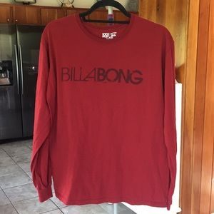 Billabong Long Sleeve Spell Out Graphic Tee
